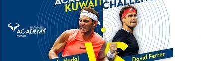 Rafa Nadal jugará con David Ferrer el partido inaugural de su academia en Kuwait