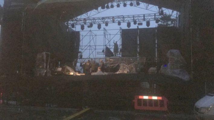 Suspendidos los conciertos de la Plaza de España