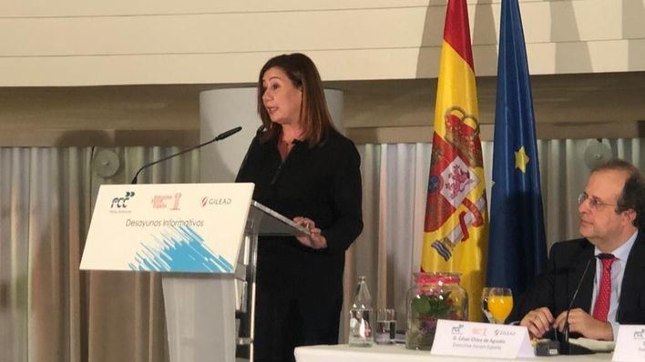 Armengol reclama más recursos en Madrid: 'Nuestra insularidad genera un problema similar a la España vaciada'