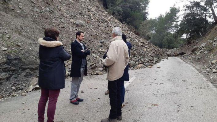 El tramo vial entre Alaró y Orient afectado por la borrasca 'Gloria' continuará cerrado al tráfico