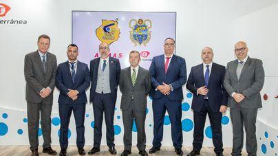 Acuerdo de patrocinio de Naviera Armas Trasmediterránea con los clubs canarios que militan en la categoría ACB