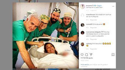 Toñi Moreno presenta a su hija recién nacida