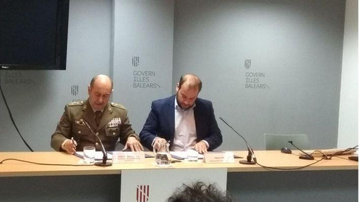 Ejército y conselleria actuarán conjuntamente en los incendios de zonas militares en Baleares