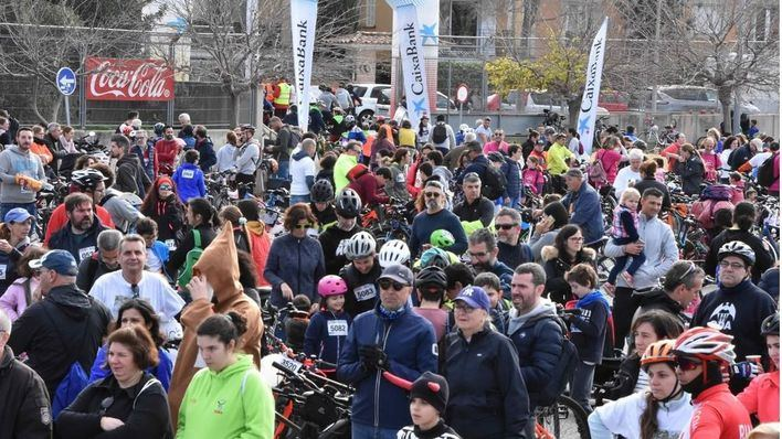 Unos 10.000 ciclistas participan en la 'Diada Ciclista' de Sant Sebastià