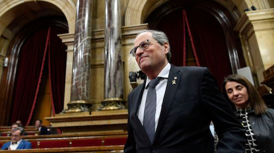 El gobierno de la Generalitat, al borde de la ruptura a causa de la inhabilitación de Torra como diputado