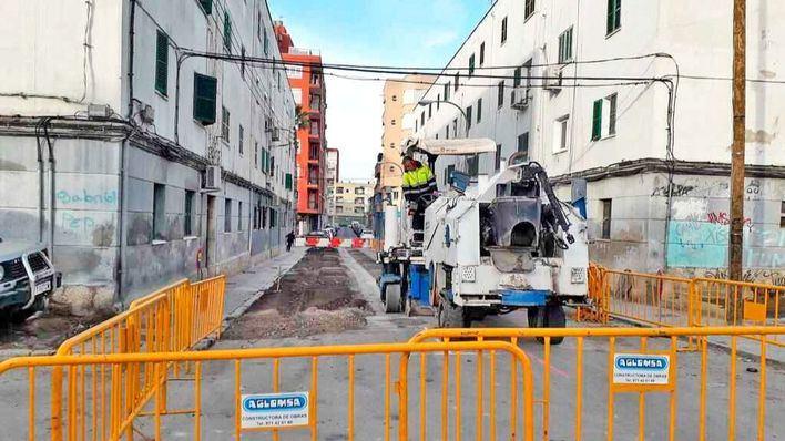 Cort invierte 450.000 euros en mejorar las calles de Camp Redó