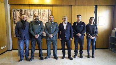 Calvià despide al Capitán de la Guardia Civil Eduardo Herrero