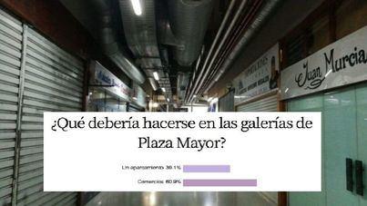 Un 60,9 por cien de encuestados prefiere comercios antes que un aparcamiento en la Plaza Mayor