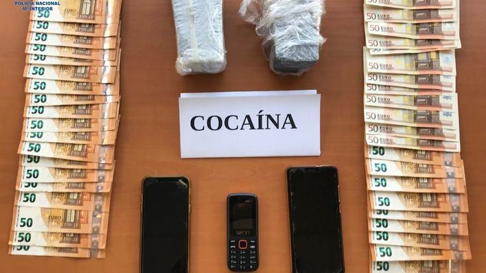 Camiones de una empresa de transportes para distribuir cocaína en Son Banya