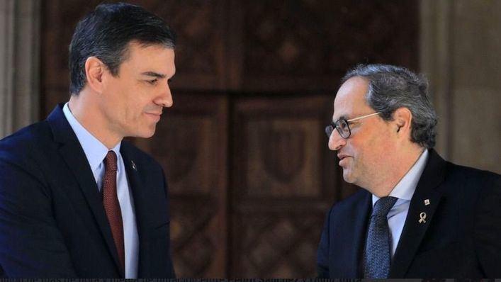 Sánchez confirma que ha pactado con Torra abrir la mesa de diálogo este mismo mes