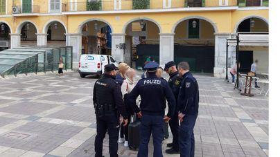 Policías alemanes patrullan las calles de Palma para adquirir experiencia y formación