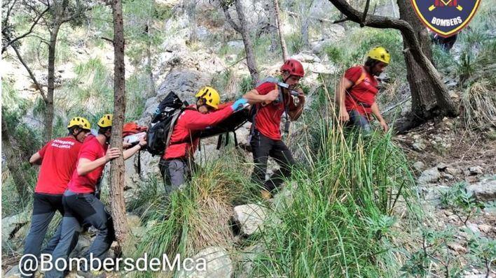 Rescatada una excursionista herida en el Port des Canonge