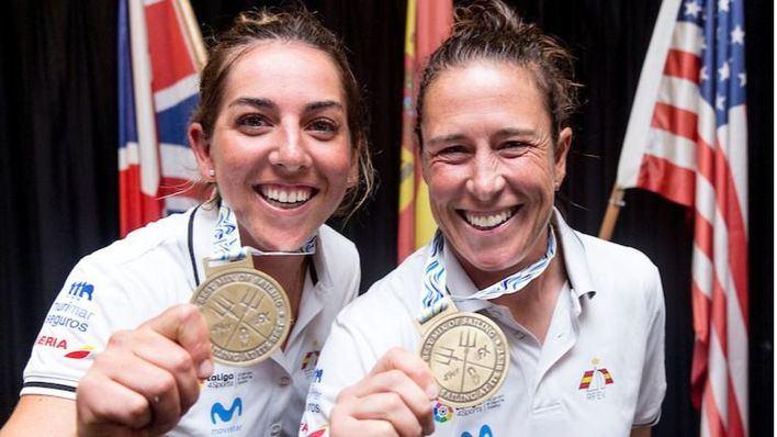 La regatista del CN s'Arenal Paula Barceló y Támara Echegoyen, las mejores del mundo en 49erFX