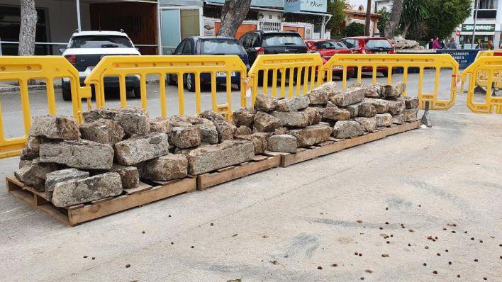 Cort sustituye bordillos de piedra por otros de hormigón en diferentes barrios de Palma