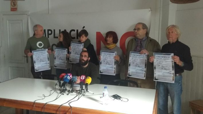 Convocan la primera movilización contra la ampliación del aeropuerto: será el Día de Baleares