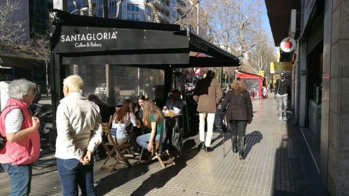 Frente común de empresarios y sindicatos a favor de las terrazas de Palma