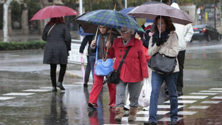 Frío, lluvia y viento en Mallorca por la borrasca 'Jorge'
