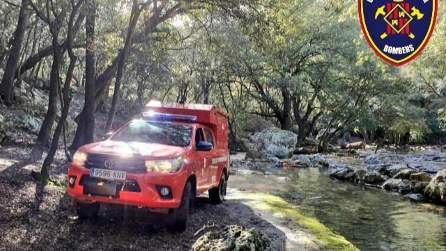 Extinguido un incendio en Esporles tras calcinar 2,47 hectáreas de pinar