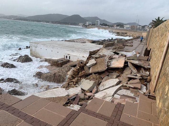 Capdepera se manifiesta contra la negativa del Gobierno de Sánchez a arreglar los destrozos de la borrasca Gloria