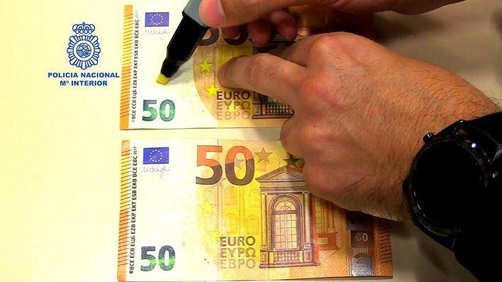 La Policía Nacional avisa de que el rotulador detector de billetes falsos no es infalible