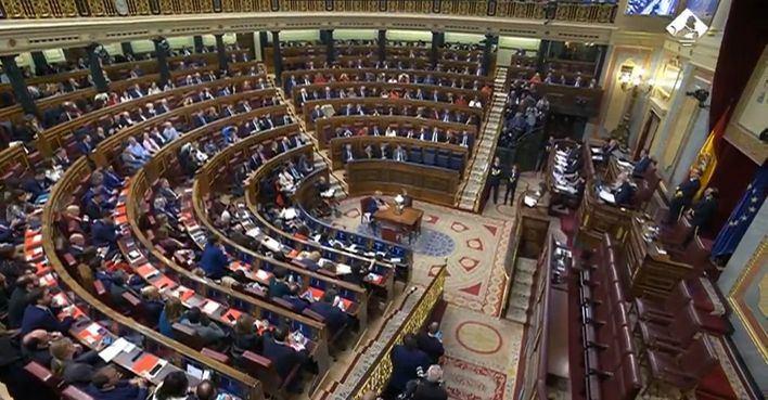 El Congreso suspende su agenda esta semana tras el positivo de Ortega Smith