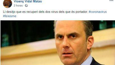 Vidal desea a Ortega Smith que 'se recupere de los dos virus del que es portador, coronavirus y fascismo'