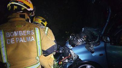Un herido grave en un accidente de tráfico ocurrido en la autopista de Andratx