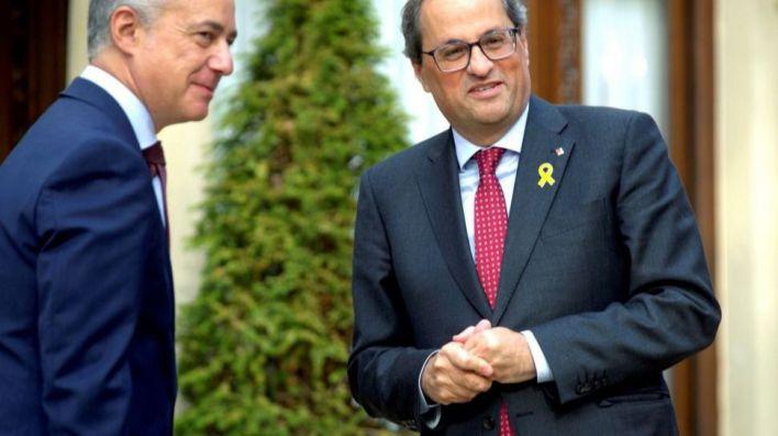 Torra y Urkullu se niegan a que Sánchez asuma sus competencias en el estado de alarma:
