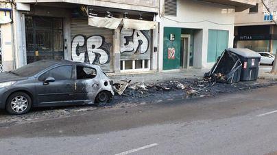 Detenido por incendiar cuatro contenedores en Palma