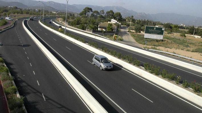 Poco tráfico en las carreteras de Mallorca debido al estado de alarma por el coronavirus