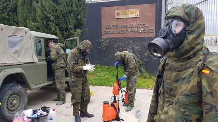 El Ejército continúa con sus labores de desinfección en Baleares