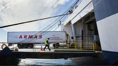 Armas Trasmediterránea transporta más de 13.000 camiones durante el estado de alarma