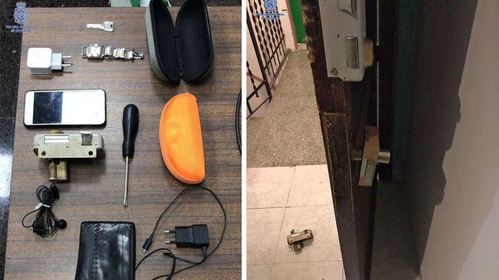 Detenido un argelino por robar en un piso de Palma destrozando la cerradura