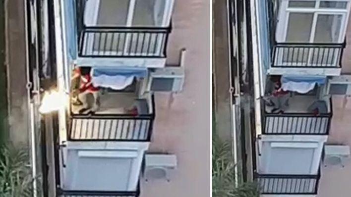 A tiros desde el balcón durante los aplausos a los sanitarios