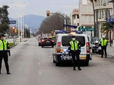 Control policial en el polígono. Imagen de Archivo