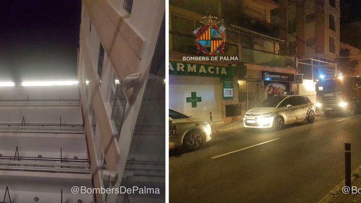 Alarma por un incendio en un hotel cerrado de la calle Joan Miró