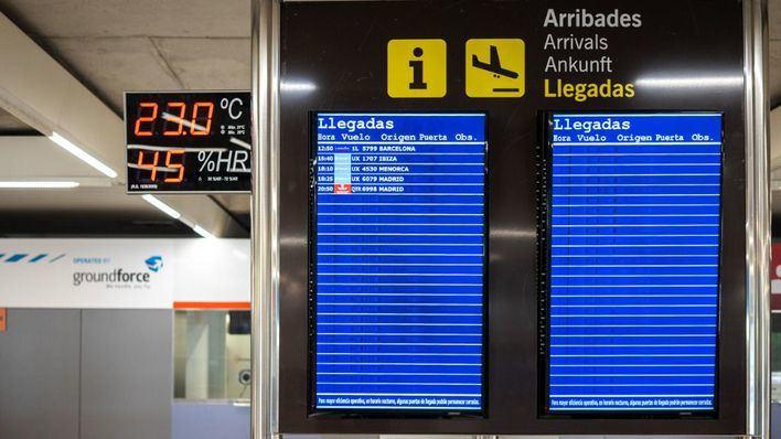 El tráfico aéreo se reduce un 95 por ciento en España