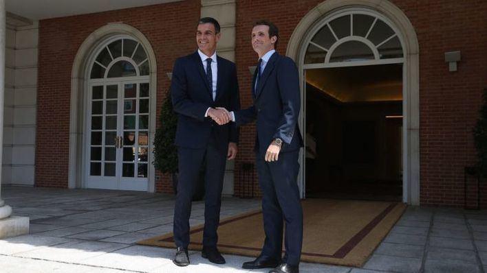 Primer 'round' de los 'Pactos de la Moncloa', sin el PP pero con EH Bildu