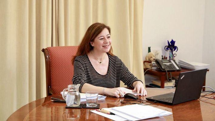 Armengol reclama a la UE un plan específico de recuperación económica para Baleares