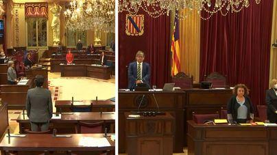 El Parlament guarda un minuto de silencio por los fallecidos del coronavirus