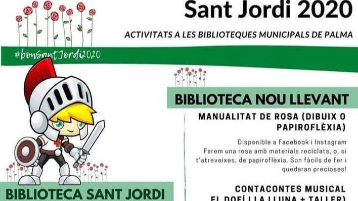 Palma celebra este jueves Sant Jordi de forma virtual por el coronavirus