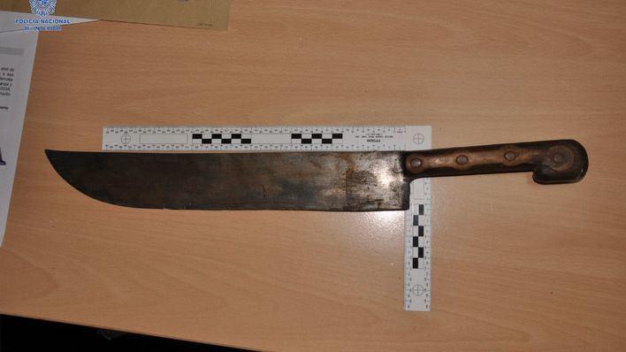 Detenido por amenazar con un machete a su suegro en Palma