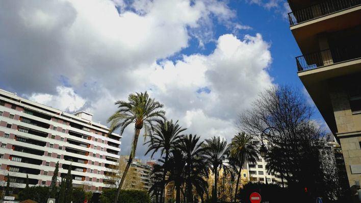 Probabilidad de lluvias por la tarde en Baleares