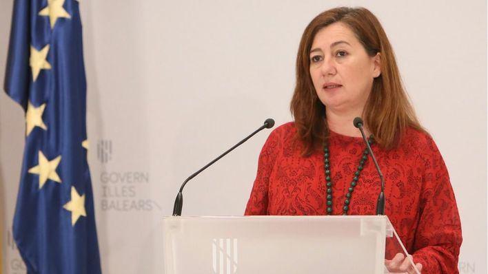 Armengol pide al Gobierno que acelere también la desescalada en Menorca e Ibiza