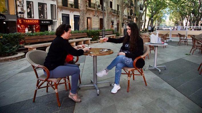 Terrazas al 50 por ciento en Palma: buena ocupación, baja rentabilidad