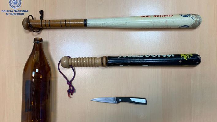 Seis detenidos en una pelea tumultuaria con bates de beisbol y un cuchillo en Palma