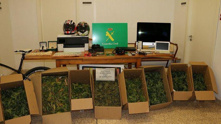 Desmantelan un punto de elaboración y venta de marihuana en Marratxí