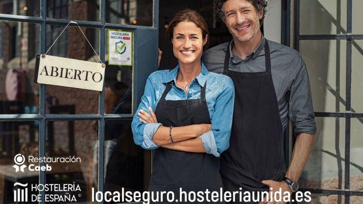 Restauración CAEB y Hostelería de España lanzan el sistema de acreditación 'Local Seguro' frente al Covid 19