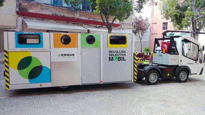 La recogida selectiva en el centro histórico de Palma recupera su horario habitual