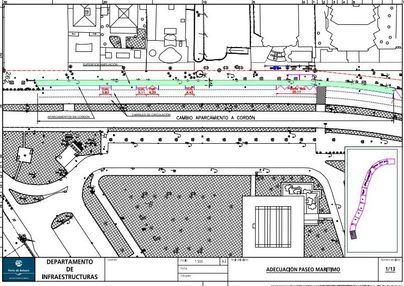 El Paseo Marítimo cierra al tráfico un carril para los peatones y más terrazas